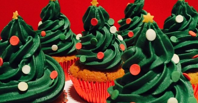 Siucra Christmas Tree Cupcakes
