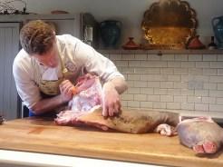 Butchery in progress