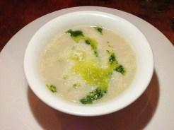 White Bean Soup with Walnut & Parsley Pesto