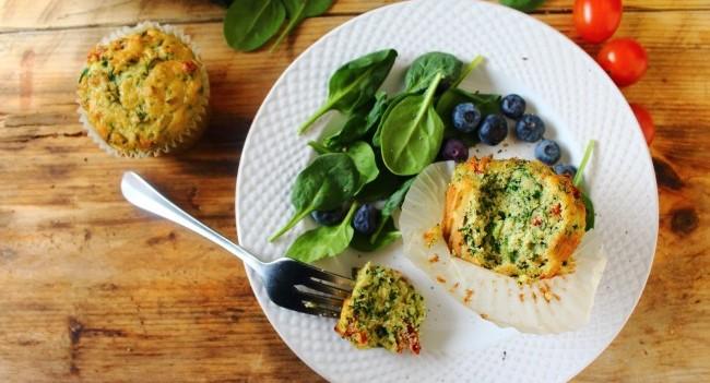 Savoury Breakfast Muffins by Peachy Palate