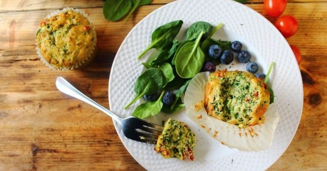 Savoury Breakfast Muffins by Peachy Palate