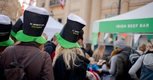 The Irish Food Market in Trafalgar Square, London in full swing!