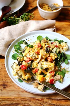 Tahini Dukkah Egg Salad Recipe by Peachy Palate