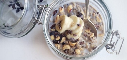 Hazelnut & Banana Overnight Oats Recipe by The Honest Project