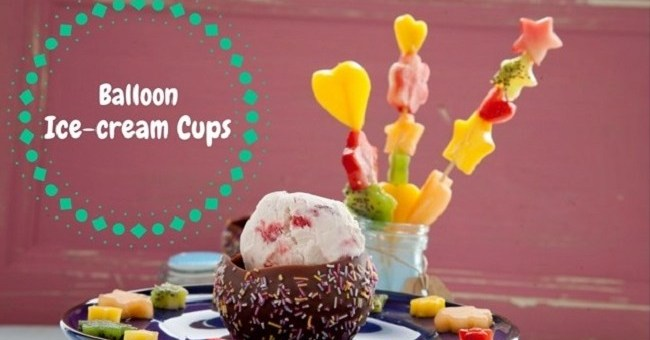 Balloon Ice-cream Cups