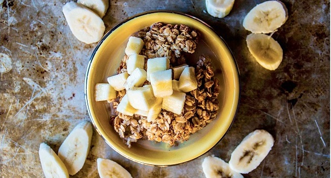 Baked Banana Oatmeal Recipe from Pure Delicious Cookbook