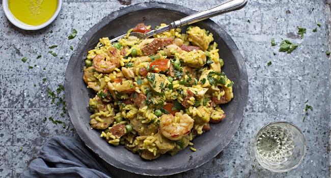 Chicken, Chorizo and Prawn Paella Recipe by Chef Gearóid Lynch
