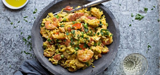 Chicken, Chorizo and Prawn Paella Recipe by Chef Gearóid Lynch