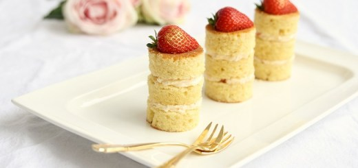 Elderflower Royale Mini Cakes Recipe by Cove Cake Design