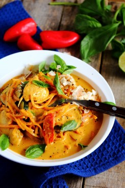 Summer Thai Basil Chicken Curry