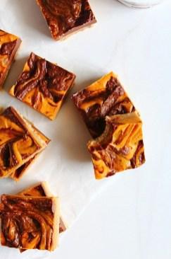 Chocolate Orange Pumpkin Swirl Bars Recipe by Peachy Palate