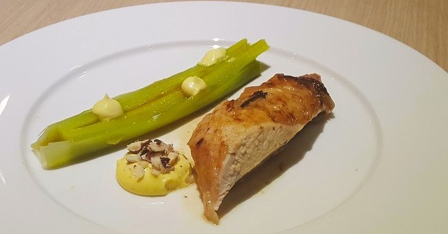 Roast Chicken with Truffle Mayonnaise Recipe and Wine Pairing by Julie Dupouy