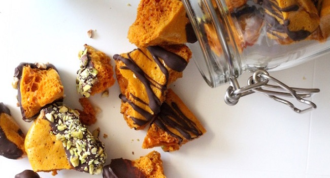Dark Chocolate Honeycomb Recipe by Catherine Buggy