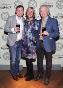 Dan Smithwick, Bernadette Griffith and Derek Griffith at the Dublin launch of Sullivan's Brewing Company at Lemon & Duke,Royal Hibernan Way,Dublin Picture Bbrian Mcevoy No repro fee for one use