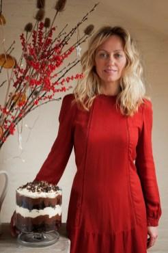 Chocolate Pecan Brownie Trifle with Orange Blossom Cream Recipe by Clodagh McKenna