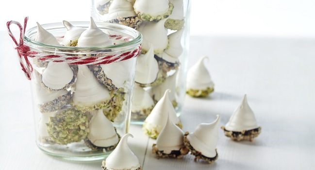 chocolate dipped meringues