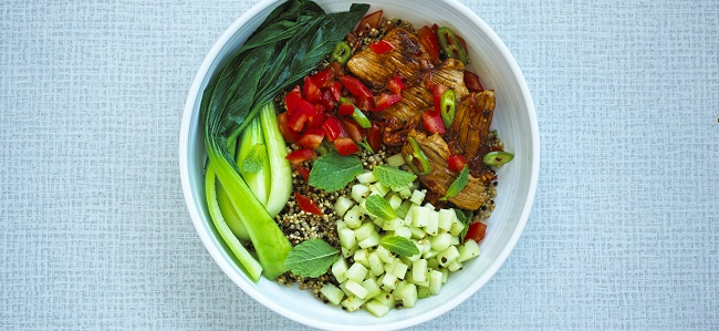 Hot & Sour Pork Recipe with Steamed Pak Choi from Nick Knowles