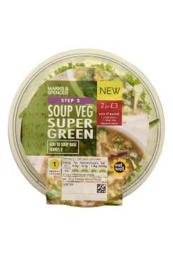 M&S Soups Super Green Soup Veg €3.00 195g II