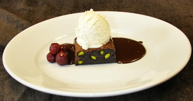 Sour Cherry Pistachio Brownie Recipe by Darren Harris