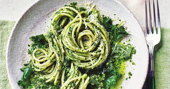 pasta and kale pesto recipe M&S