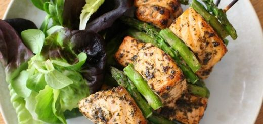 Salmon Skewers Recipe by The Wonky Spatula