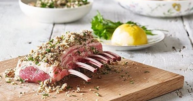 Hot cross bun-crusted lamb recipe
