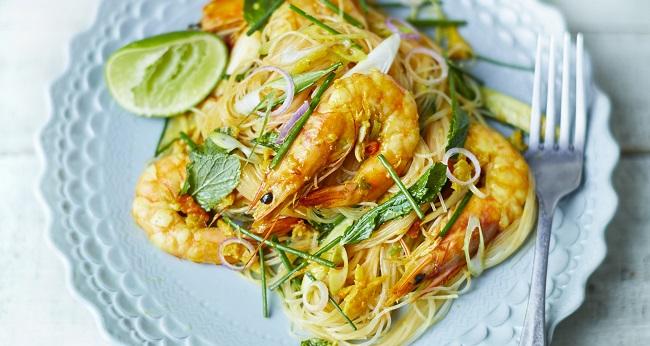 Prawn Noodle Salad Recipe - Cook Thai