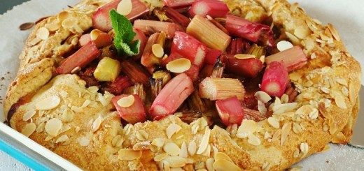 Rhubarb galette recipe with ginger frangipan