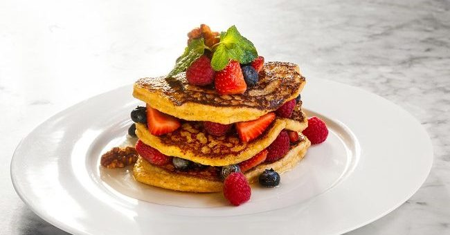 Balfes Oat Pancakes with Mixed Berries