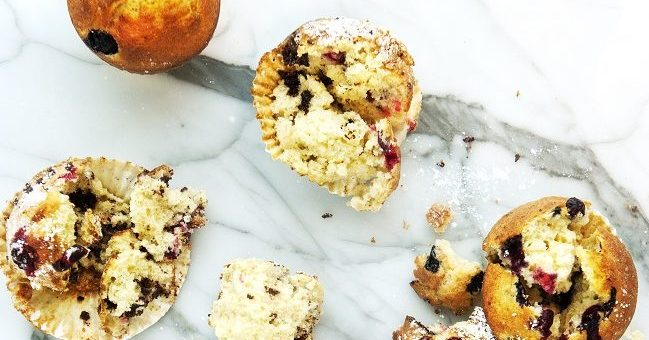 Blueberry and Banana Muffin Recipe by Chef Gareth Mullins from The Marker Hotel