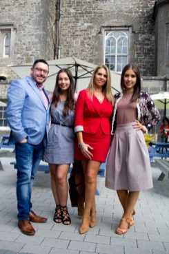 Keith Mahon, Jules Mahon, Sarah Glascott, and Erica Bracken - The Taste Magazine, at Slane Castle Co Meath. For the opening of the new Gandon Room Restaurant & Brownes Bar at Slane Castle . Photo: AllenKielyPhotography.com