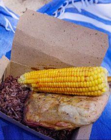 Chicken and rice Playas del Este beach