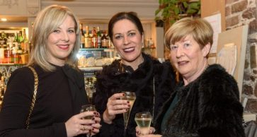 REPRO FREE Pictured at the Rhône Valley Wine Week Dinner in Greenes Restaurant, Cork, in association with Château Pesquié and Tindal Wine Merchants , were Jackie Deasy and Regina Lane from Ballyhooley with Elma Deasy from Tivoli. Picture. John Allen