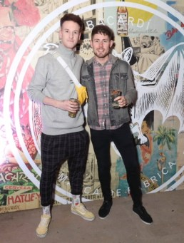 Mark Anthony and Kieran Doyle pictured at the launch of BACARDÍ Cuatro and Ocho, which were officially introduced in true prohibition style last night at an exclusive speakeasy event off Camden Street. Pic: Marc O'Sullivan