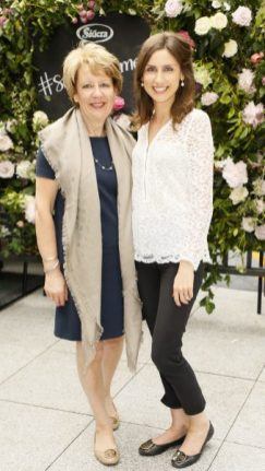 Phylis and Ciara O'Connell at the launch of Siúcra's new summer recipes by chef Catherine Fulvio held at the Woolen Mills Dublin.photo Kieran Harnett no repro fee