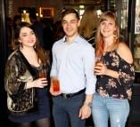 Annie Rattigan, Denis Bourbon and Rotie Van Den Broeck at Balfes Summer Party-photo Kieran Harnett no repro fee