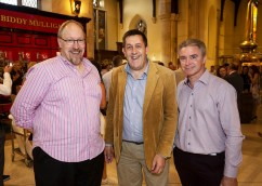 PICTURED: Ivor, WhiskeyTalk2U blog, Stuart Macnamara from IrishWhiskey.com and John Daly, Irish Whiskey Craft store Photographer: 1IMAGE/Bryan Brophy
