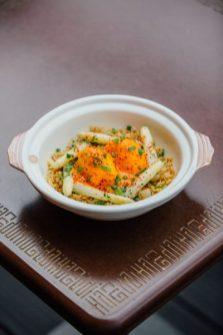 Fried Rice Asparagus & Kimchi Hollandaise