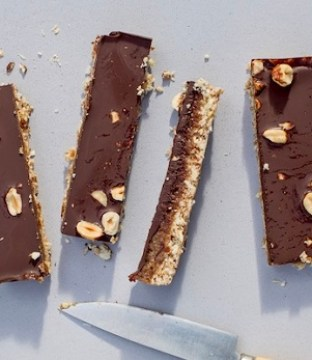 Caramel and Chocolate Slices Recipe