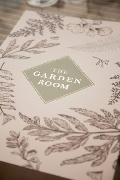 The Garden Room Menu