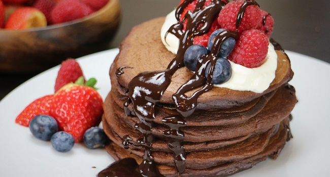 Hot Chocolate Pancakes Recipe by Chef Jeeny Maltese