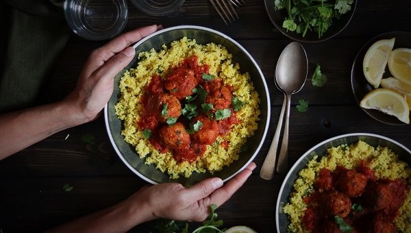 Moroccan Turkey Meatballs with Lemony Couscous Recipe By Soulful and Healthy