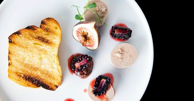 Chicken Liver Pate With Fig Chutney, Toasted Brioche, Fleur de Sel, Blackberry Compote Recipe By Che Igor From The Gibson