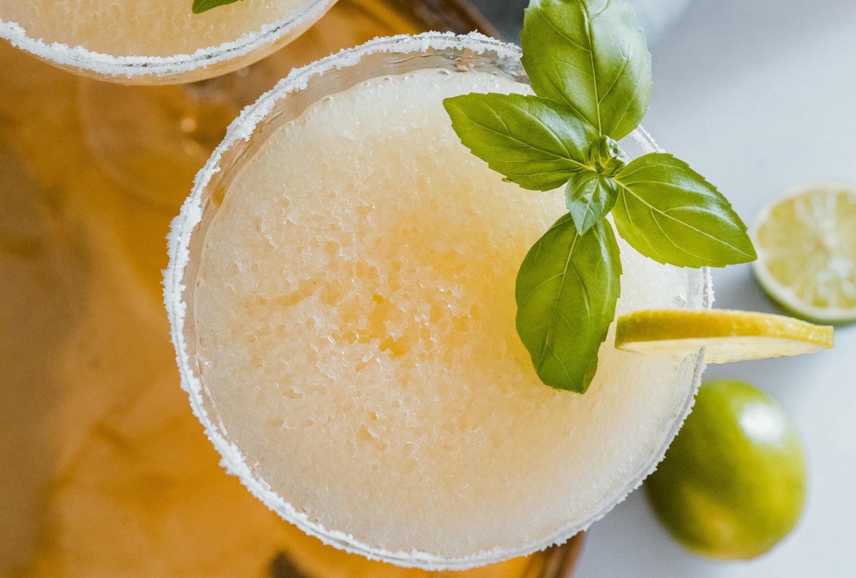 Frozen Orange & Basil Margarita Cocktail Recipe From Dacha Drinks