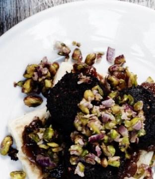 Rudd's Plant Based Black Pudding, Potato Cakes & Mango Chutney