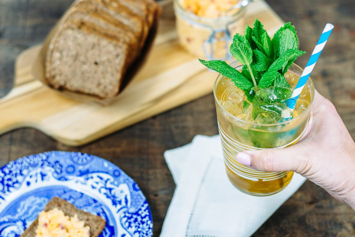 we love serving mint juleps can be served in modern glasses and paper straws