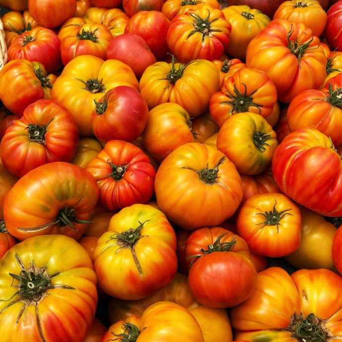 Use ripe tomatoes to make a summer gazpacho soup