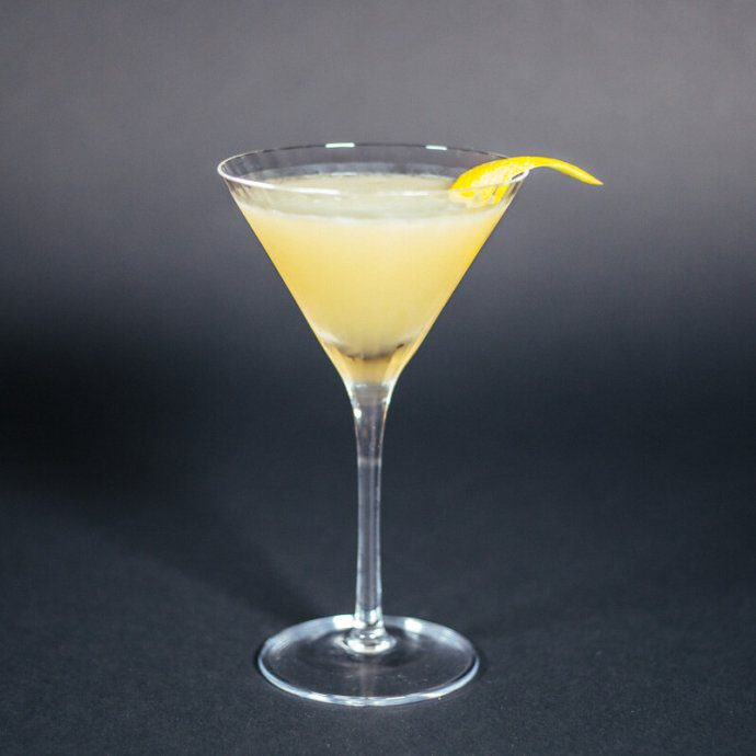 classic sidecar cocktail served in a martini glass