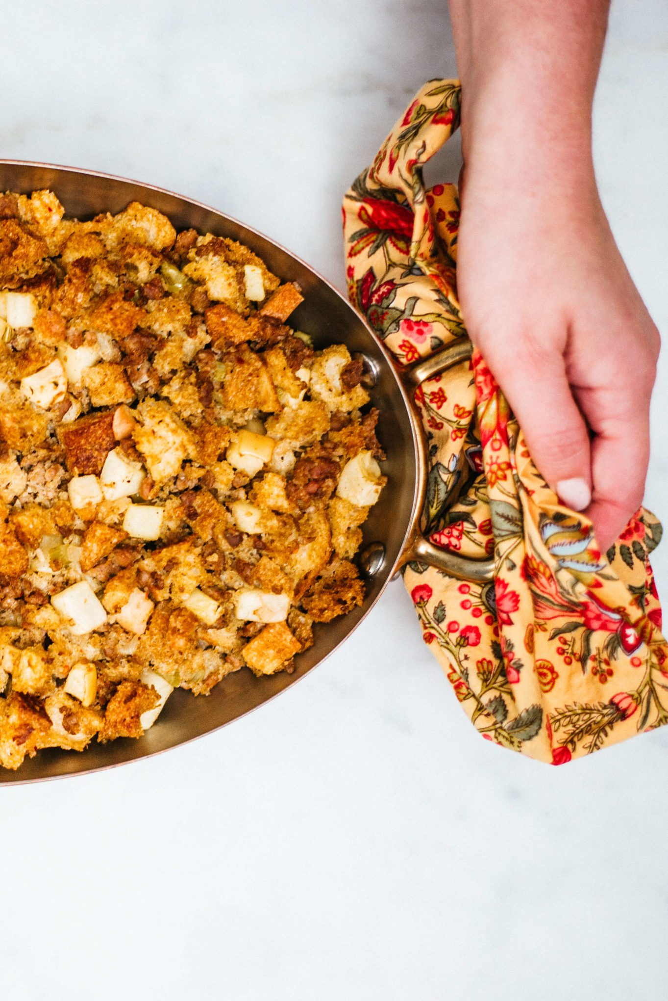 The Taste SF loves making the best spicy sausage stuffing at thanksgiving