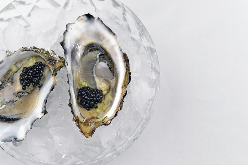 Hog Island Oysters holiday shipping with caviar and celery